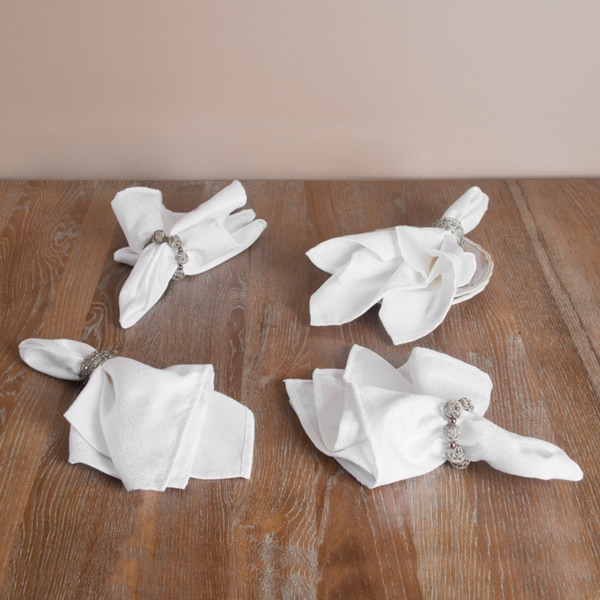 Special Occasion White Napkins (Set of Four)