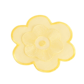 Flower Design Yellow Coasters (Set of Four)