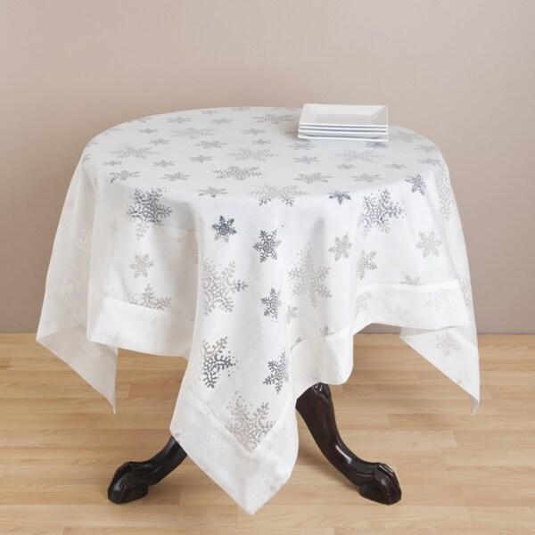 Burnout Snowflake Design Tablecloth