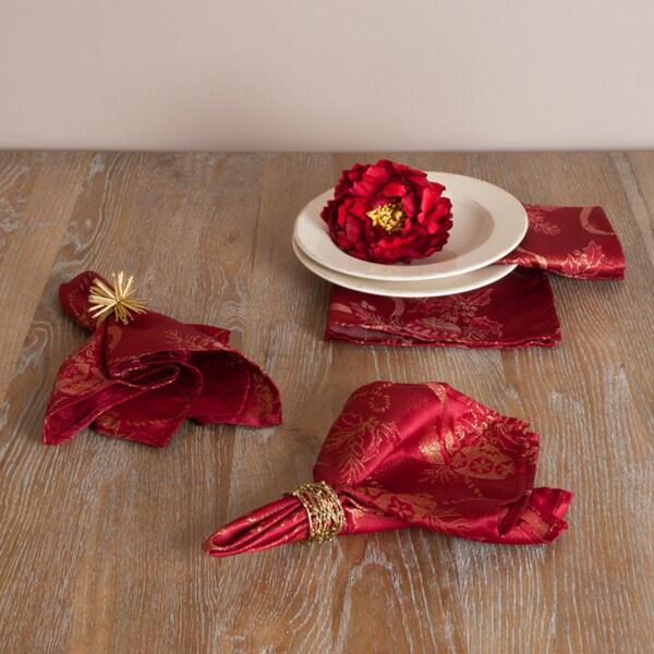Jacquard Holiday Design Napkins (Set of 4)