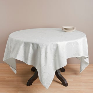Jacquard Holiday Pattern Round Tablecloth