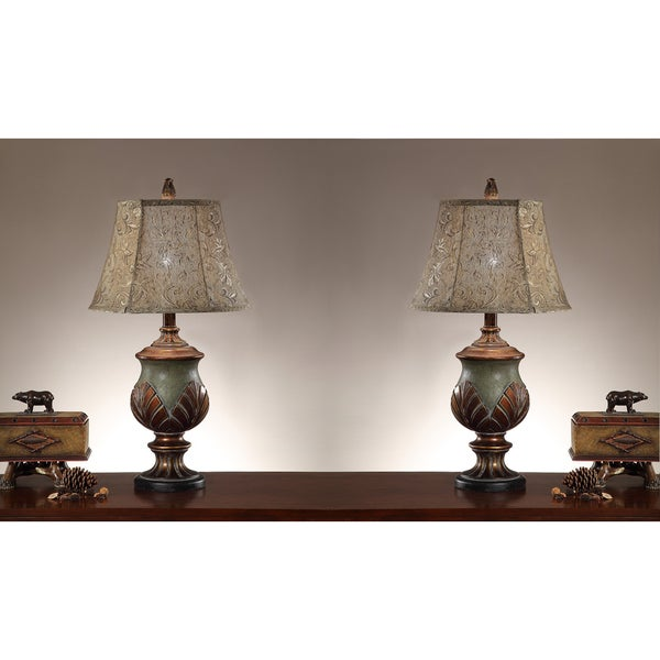 Palm Key 35-inch Table Lamps (Set of 2)