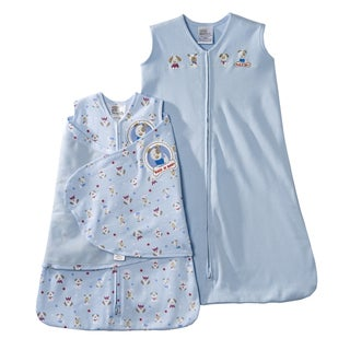 HALO SleepSack Two-piece Blue Silly Pups Swaddle Gift Set