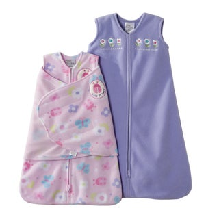 HALO SleepSack Two-piece Pink/ Lavender Swaddle Gift Set