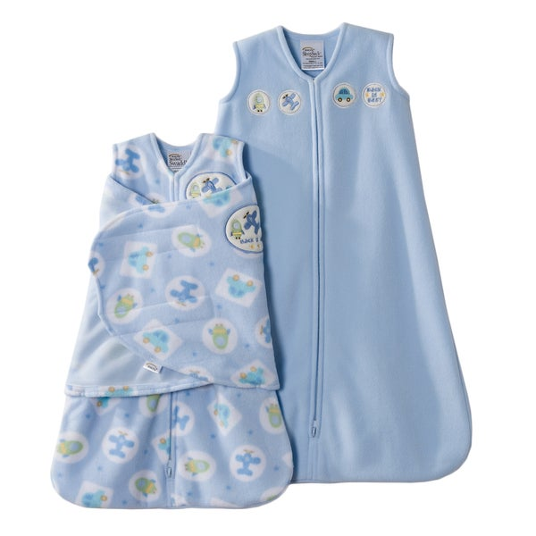 HALO SleepSack Two-piece Blue Moving Things Swaddle Gift Set