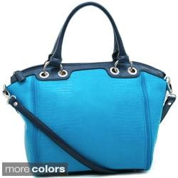 Dasein Matte Croco Texture Tote Bag