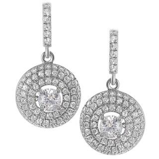 Tressa Sterling Silver Cubic Zirconia Mini Chandelier Earrings