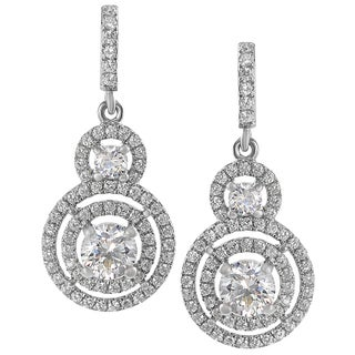 Tressa Sterling Silver CZ Mini Chandelier Drop Earrings