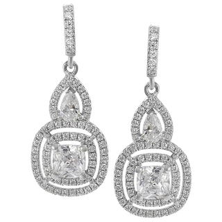Tressa Sterling Silver CZ Mini Chandelier Earrings