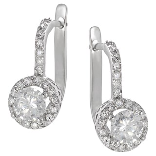 Tressa Sterling Silver Cubic Zirconia Drop Earrings