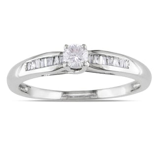 Miadora Sterling Silver 1/4ct TDW Diamond Promise Ring (H-I, I2-I3)