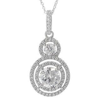 Tressa Sterling Silver Cubic Zirconia Circle Necklace