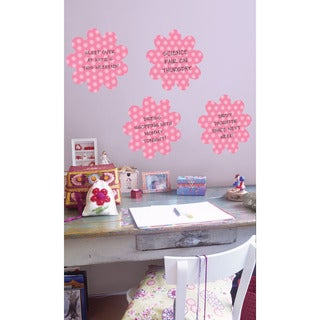 Wall Pops Daisy Pink Dry-erase Shape Decals