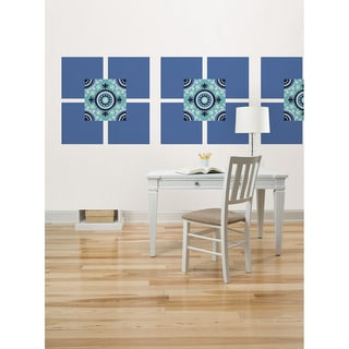 Wall Pops Aegean and Malaya Blue Dot Wall Decals