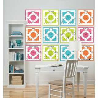 WallPops Chroma Yearly Calendar Decal Pack