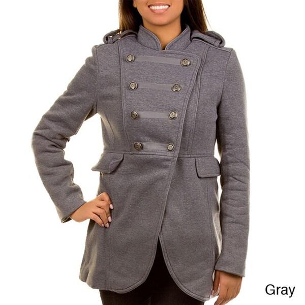 Stanzino Women's Double Breasted Military Coat