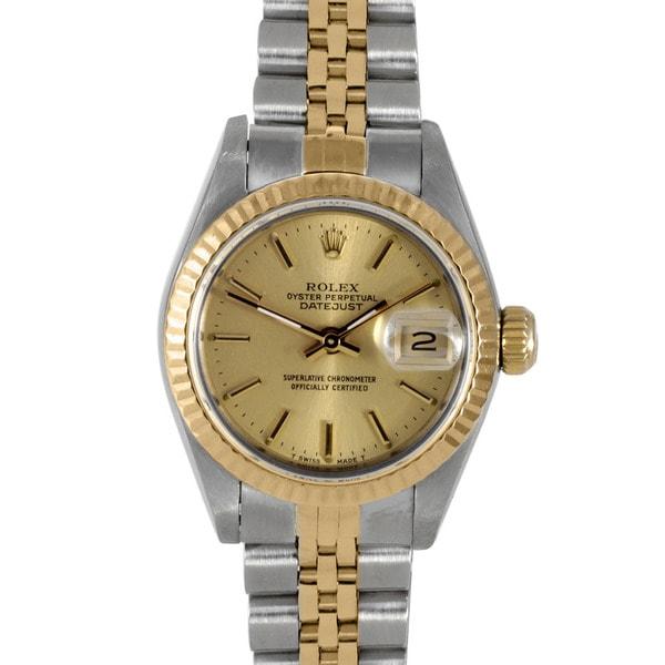 Pre-owned Rolex Women's 18k Two-tone Steel Datejust Watch