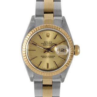 Pre-owned Rolex Women's 18-karat Two-tone Datejust Watch