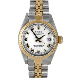 Pre-owned Rolex Women's 18k Two-tone Datejust Watch