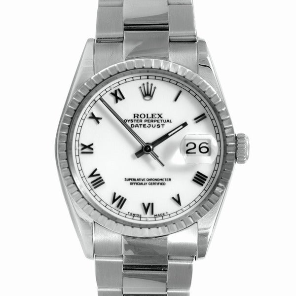 Pre-Owned Rolex Men's Stainless-Steel Water-Resistant Datejust Watch
