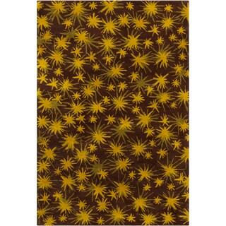 Filament Star Design Wool Rug (5' x 7'6)