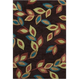 Filament Floral Design Wool Rug (5' x 7'6)