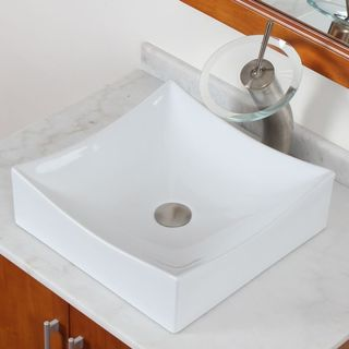 ELITE Model 9909 High-Temperature Grade A Ceramic Bathroom Sink