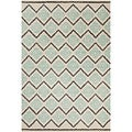 Filament Cream Abstract Wool Rug (5' x 7'6)
