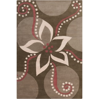 Filament Brown Wool Rug (5' x 7'6)