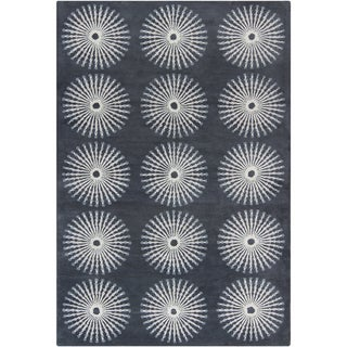 "Filament Gray Wool Area Rug (5' x 7'6"")"