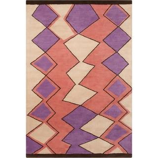 Filament Handmade Geometric Wool Rug (5' x 7'6)