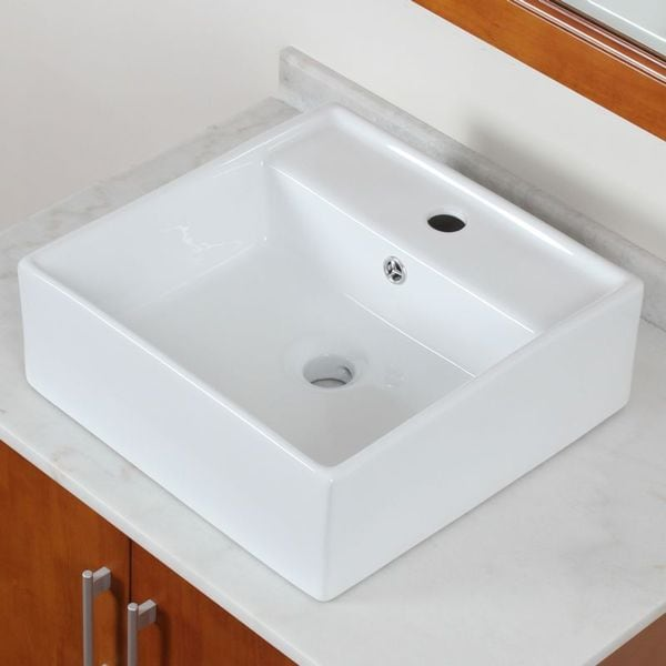 ELITE Model 9978 High Temperature Grade A Ceramic Bathroom Sink