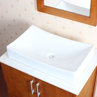 ELITE Model 9910 High Temperature Grade A Ceramic Bathroom Sink