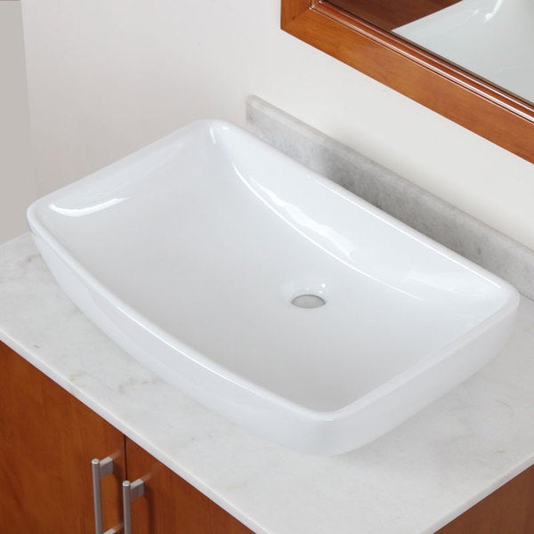 ELITE Model 10059 High Temperature Grade A Ceramic Bathroom Sink