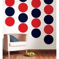 WallPops Shh! Blue and Red Hot Dots Bundle Vinyl Wall Art