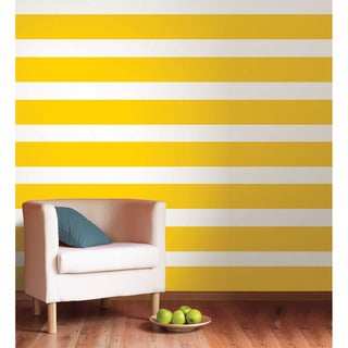 Sale alerts for  WallPops Lello Yellow Stripe Decal Bundle Vinyl Wall Art - Covvet