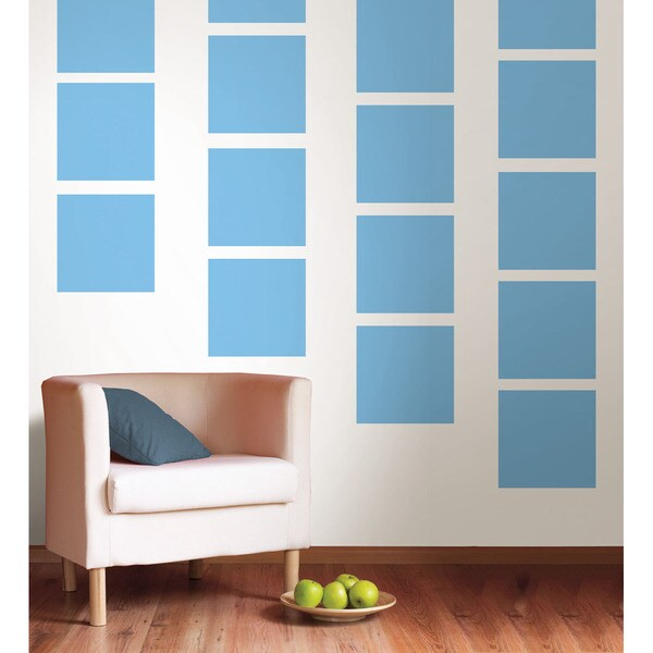 WallPops Way Cool Blue Blox Decal Bundle Vinyl Wall Art