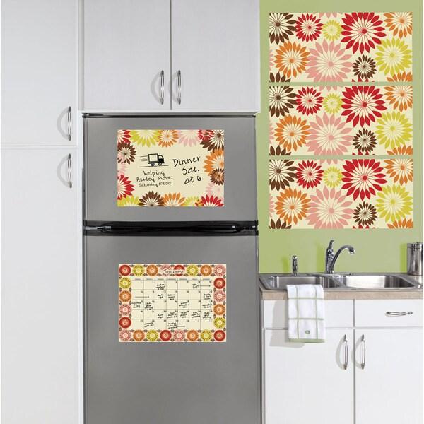 WallPops Carnivale Dry Erase Board and Calendar with Wall Art Kit Bundle Vinyl Wall Art