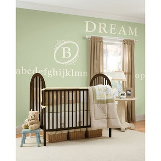 WallPops Southampton Ivory Monogram and Alphabet Bundle Vinyl Wall Art