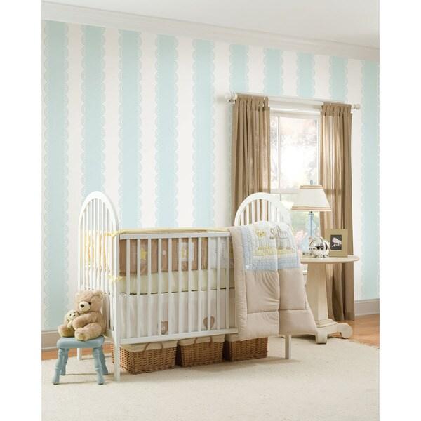 WallPops Baby Blue Stripe Bundle Vinyl Wall Art