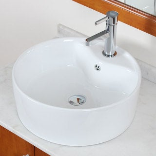 ELITE Model 9975 High Temperature Grade A Ceramic Bathroom Sink