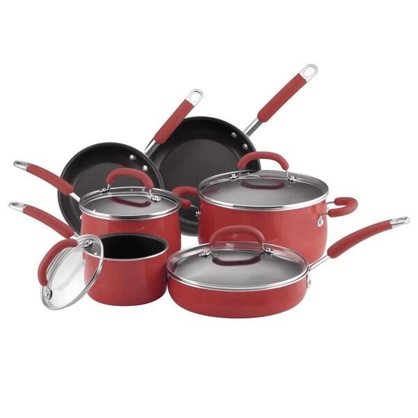 Rachael Ray Red 10-piece Cookware Set