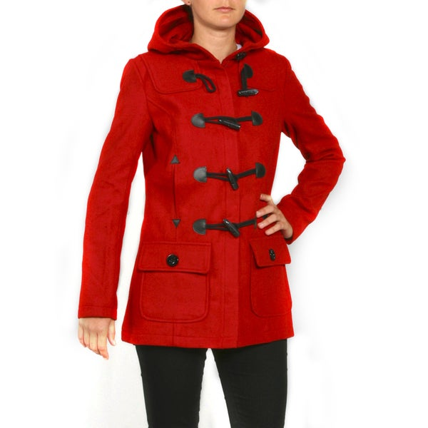 Red Fox Women's Red Wool Toggle Coat