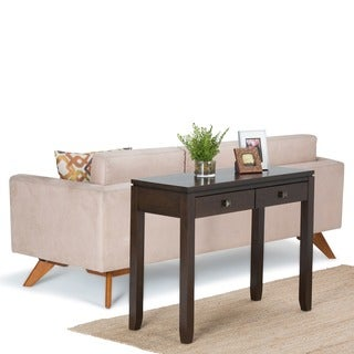 WYNDENHALL Essex Coffee Brown Console Sofa Table