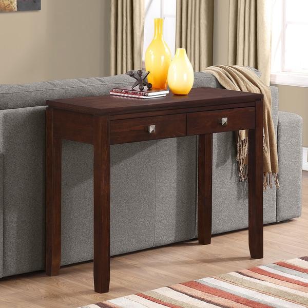 WYNDENHALL Essex Coffee Brown Console Sofa Table