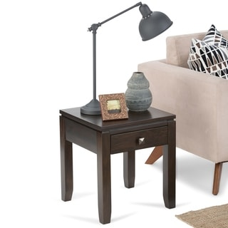 WYNDENHALL Essex Coffee Brown End Table