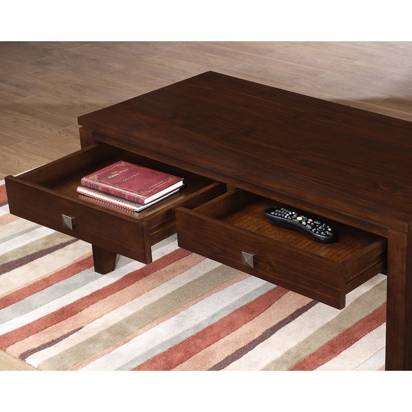 WYNDENHALL Essex Coffee Brown Coffee Table