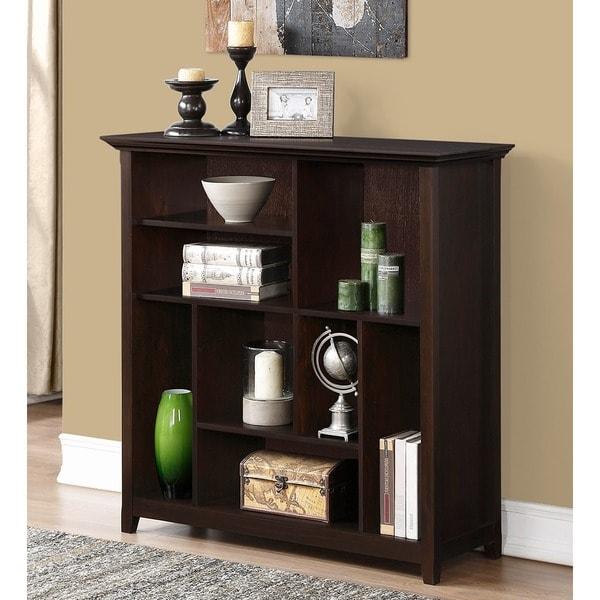 WYNDENHALL Halifax Dark American Brown Crazy Cube Bookcase & Storage Unit