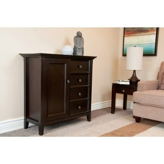 Halifax Dark American Brown Medium Storage Media Cabinet & Buffet
