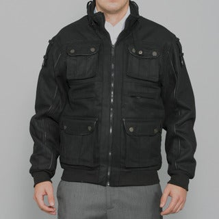 Sportier Men's Black Multi-pocket Wool Coat